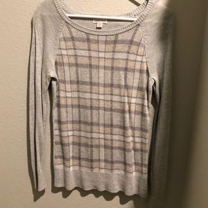Grey Plaid Sweater